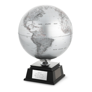 Unique-Graduation Gifts Silver Rotating Globe