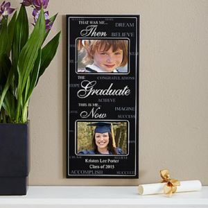 Unique-Graduation Gifts Then Now Wall Photoframe