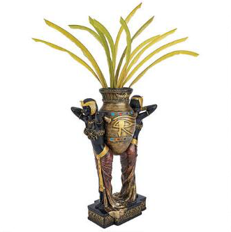 Egyptian Home Decor Sculptural Vase