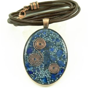 Spiritual Gift Ideas Orgone Energy Necklace WithLapis