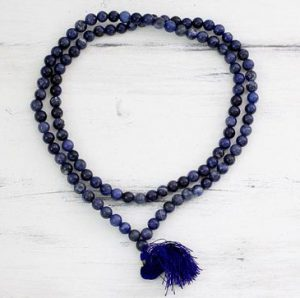 Spiritual Gift Ideas Sodalite Prayer Necklace