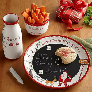 unique Christmas gift ideas Santa message plateset