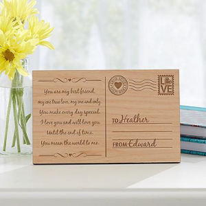 Perfect-Romantic-Gifts-Wood-Postcard